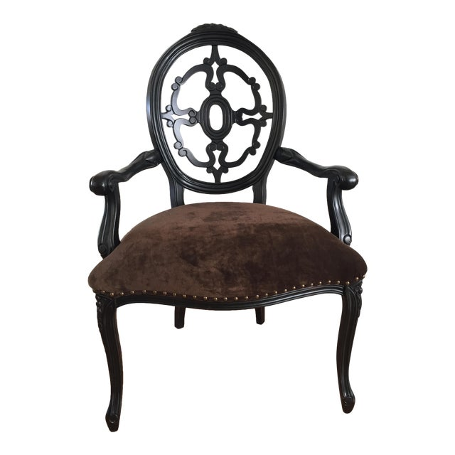 Velvet Upholstered Chair - Image 1 of 7