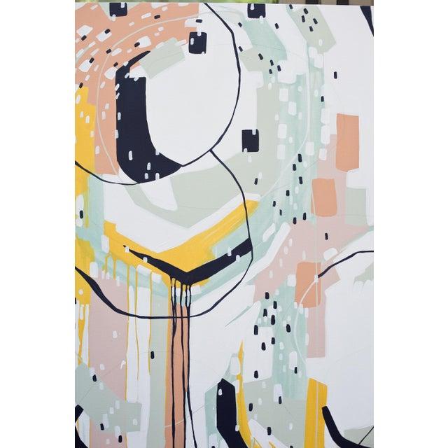 "Beth Winterburn Original Abstract - ""Sherbet Summer"" - Image 4 of 6"