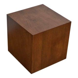 Walnut Cube End Table