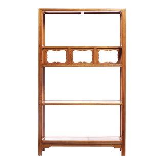 Carved Panels Elm Bookcase