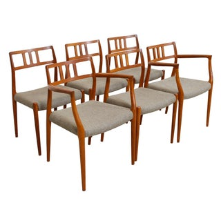 Niels Moller Danish Modern Teak Chairs - Set of 6