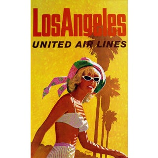 Vintage Reproduction Los Angeles Travel Poster