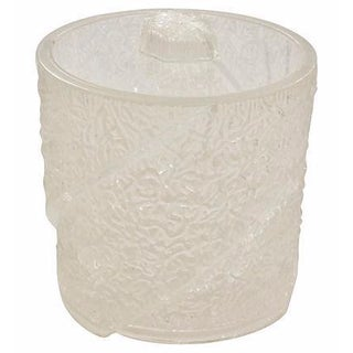 Mid-Century Frosted Lucite Ice Bucket