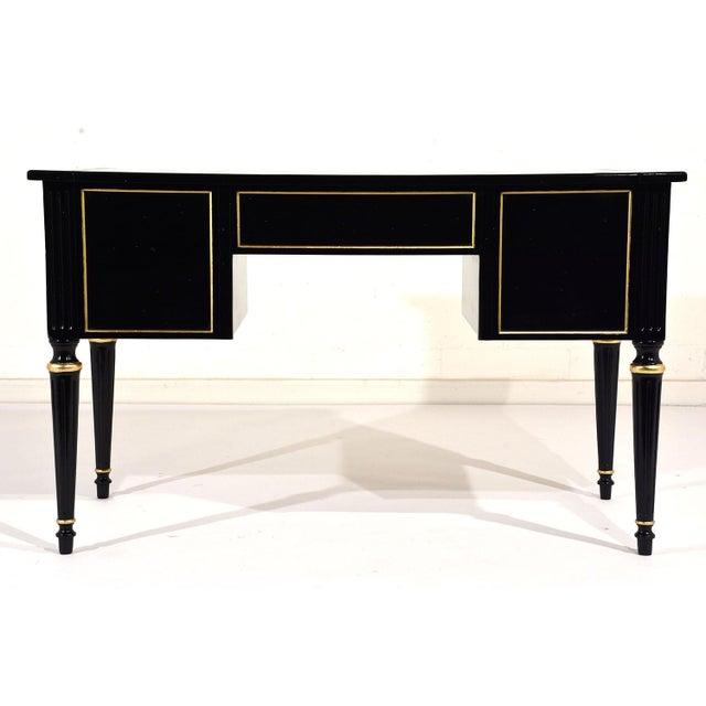 French Louis XVI-style Ebonized Desk - Image 10 of 10