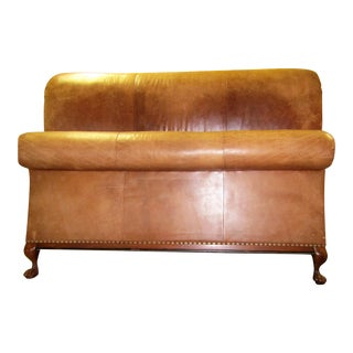 "Ralph Lauren ""Eastern King"" Leather Scroll Bed"
