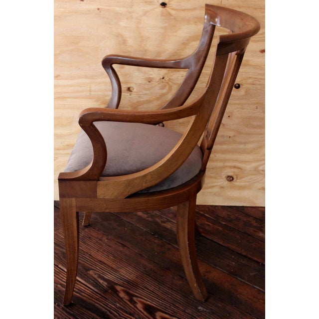 "Empire ""Chaise en Gondole"" Fruitwood Baker Dining Chairs - Set of Four - Image 3 of 8"