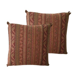 Cowtan & Tour Striped Paisley Pillows - A Pair