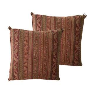 Cowtan & Tour Striped Paisley Pillows - A Pair