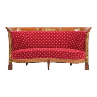 French Napoleon III Mahogany Sofa