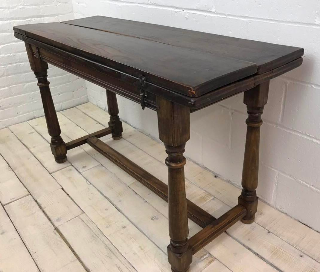 Oak Top Dining Table Part - 32: Oak Abbey Folding Top Dining Table - Image 2 Of 11