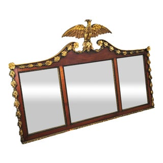 Early 19th Century Federal Eagle Three Panel Wall Mirror