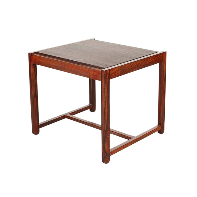 Danish Reversible End Table / Ottoman - Image 1 of 8
