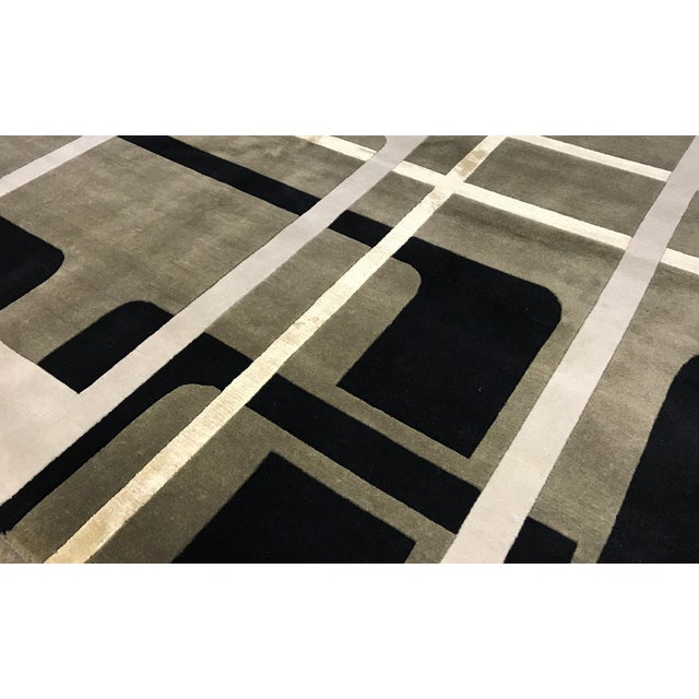 """Contemporary Hand Woven Rug - 6' x 9'3"""" - Image 2 of 3"""