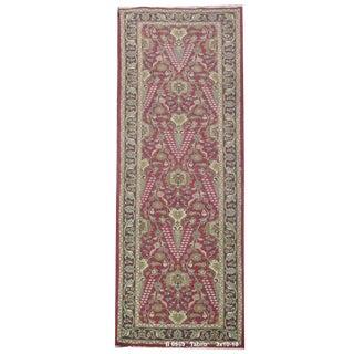 Vintage Persian Tabriz Rug - 3' x 10'10''