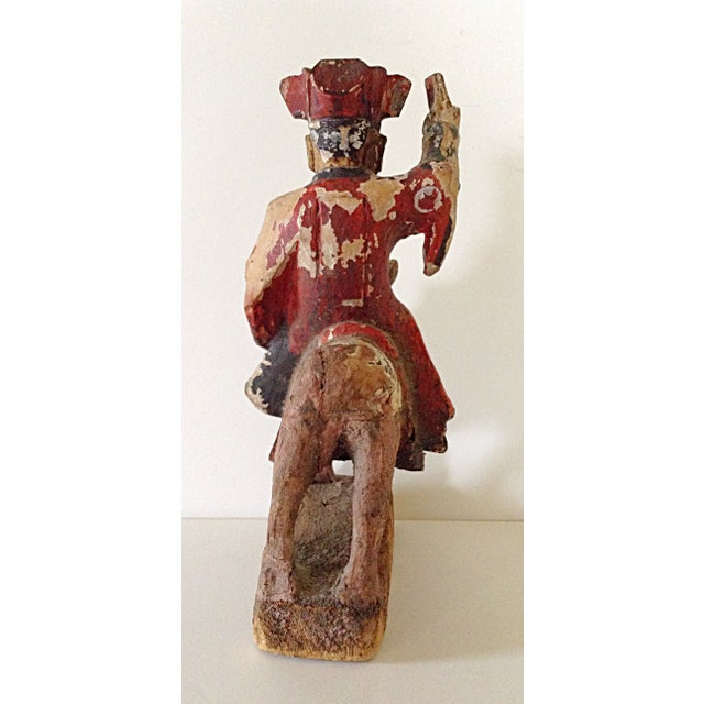 Image of 15th C. Chinese Wooden Prayer Figure