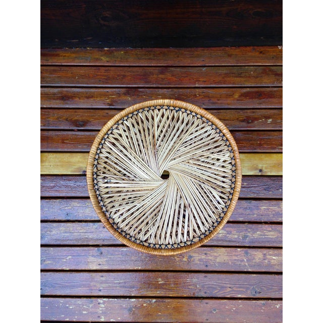 Vintage Wicker Side Table - Image 4 of 5