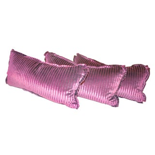 Royal Purple Velvet Lumbar Pillows - Set of 3