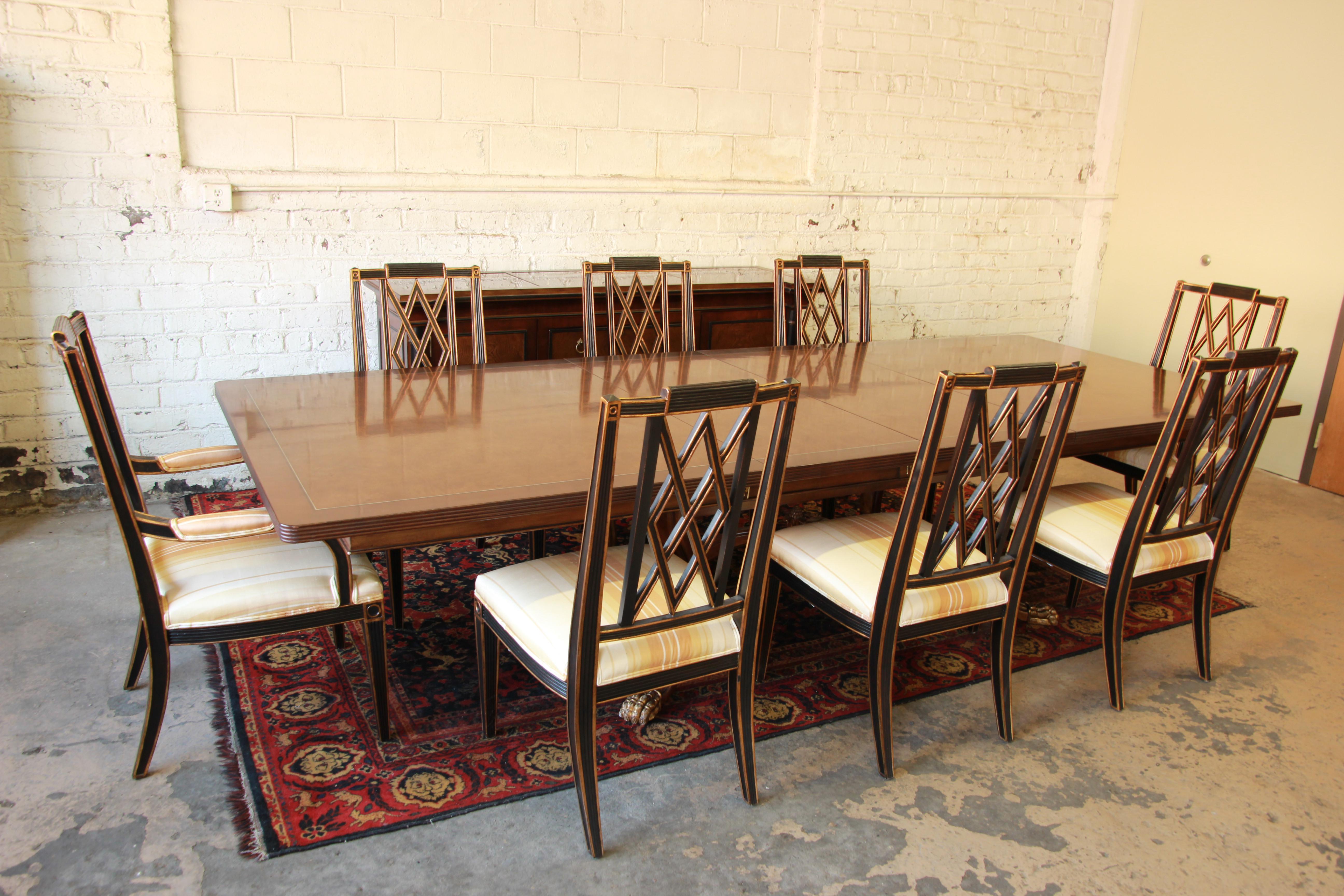 Vintage Burled Mahogany Dining Set By Ferguson Copeland   Set Of 9   Image  2 Of