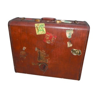 Vintage Samsonite Leather Suitcase