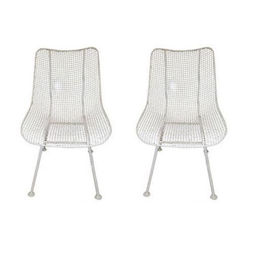 Image of Vintage Metal Woodard Sculptura Chairs - A Pair
