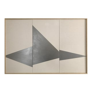 """Jason Trotter Original Acrylic Painting """"Silver On Point Triptych JET0482"""""""