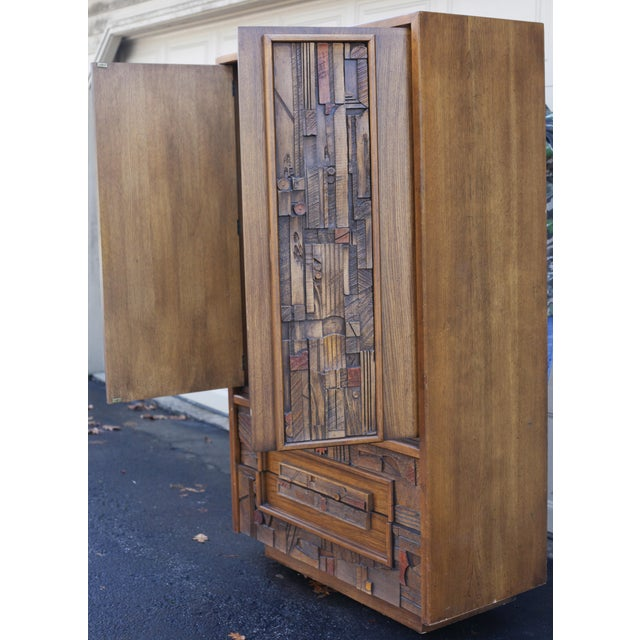 Lane Pueblo Brutalist Armoire Dresser Chairish