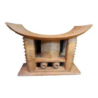 Rare Old Ashanti Carved Wood Stoo