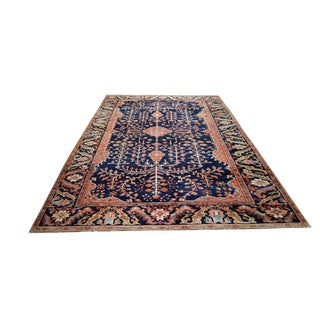6′9″ × 10′6 Antique Persian Sarouk Fereghan Handmade Knotted Rug - Size Cat. 7x10 8x10