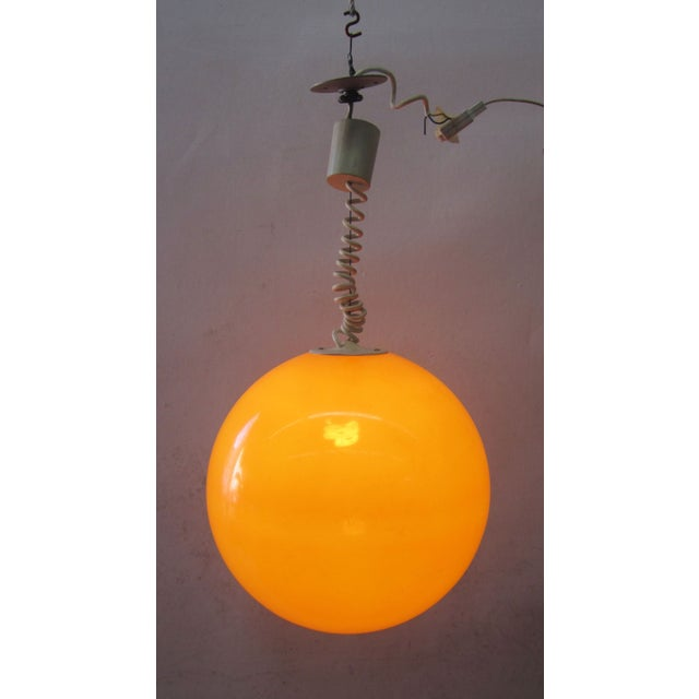 Adjustable Orange Ball Pendant Light - Image 3 of 3