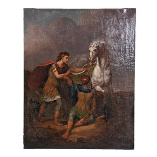 Oil painting of Alexander and His Horse