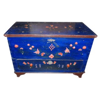 Czechoslovakian Painted Trunk, Dated 1898