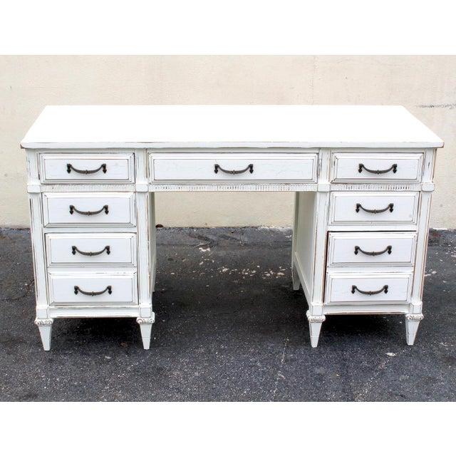Mid-Century White Desk - Image 2 of 7