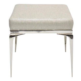 CF Modern Custom Nickel Banded Stiletto Ottoman
