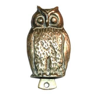 Wide-Eyed Owl Brass Door Knocker