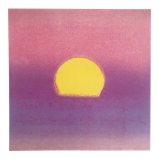 "Andy Warhol Original Pop Art ""Lavender Sunset"" Sunset Series Print 1972"