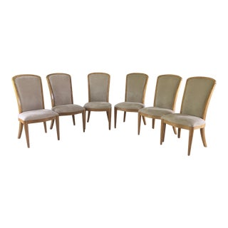 Century Furniture Burled Maple Omni Dining Chairs - Set of 6