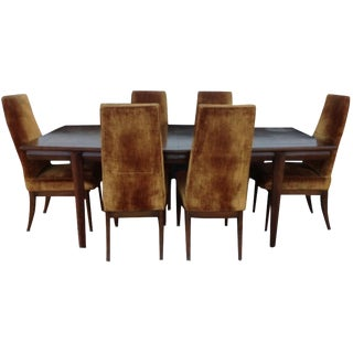 Monteverdi Young Burl Walnut Dining Set - Set of 7