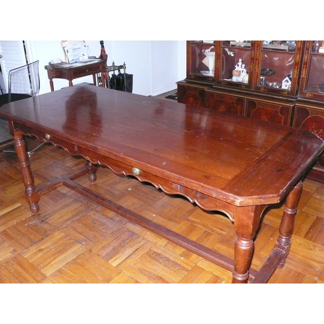 French Provincial Italian Library/Dining Table - Image 3 of 6