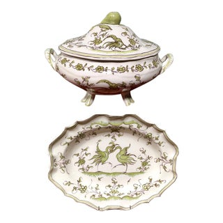 Ribet & Bonnassies French Faience Moustiers Soup Tureen and Platter Set