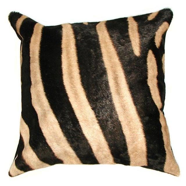 Real Animal Skin Pillows : Zebra Skin Pillow Chairish
