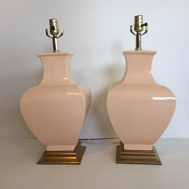 Fine Art Co. Pink Table Lamps - A Pair - Image 2 of 3
