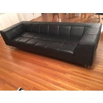 Image of BoConcept Black Leather Sofa