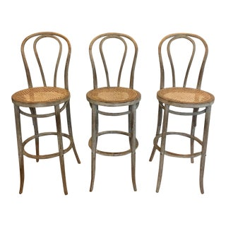 Restoration Hardware French Cafe Barstools - Set of 3