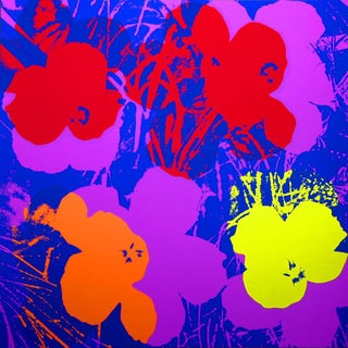Flowers Screen Print by Sunday B. Morning