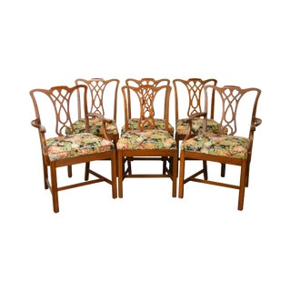 Vintage Chippendale Style Mahogany Dining Chairs - Set of 6