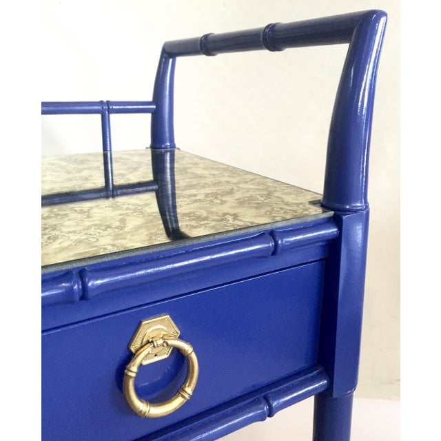 Thomasville Royal Blue Lacquered Server - Image 10 of 11