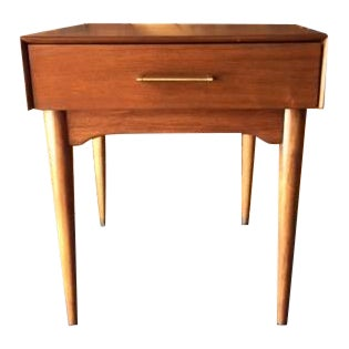 Mid-Century Refinished Side Table With Drawer - Image 1 of 6