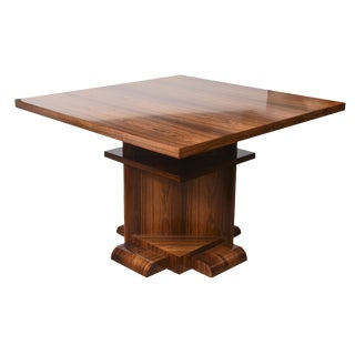 Mid Century Architectural Bexley Heath for Widdicomb Square Wood Center Table
