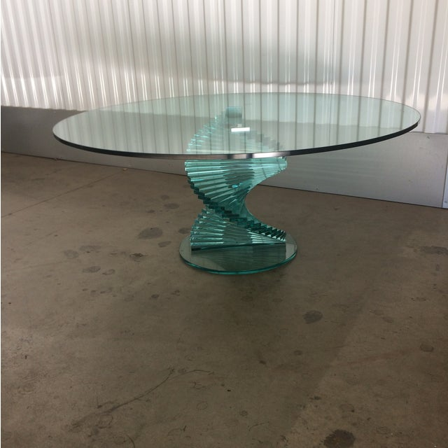 Modern Spiral Glass Coffee Table Chairish