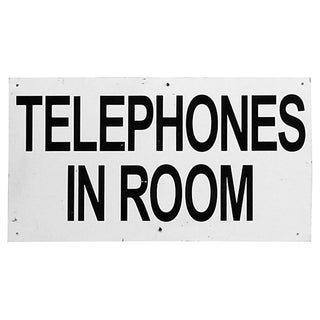 """Telephones in Room"" Motel Sign"